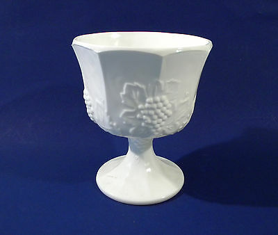 Westmoreland or Indiana White Milk Glass Harvest Grape Pedestal Candy Dish Compo
