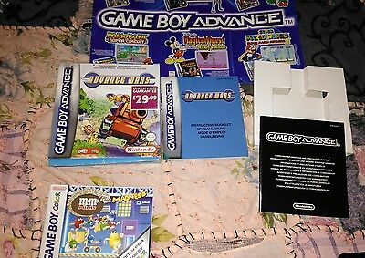 Gameboy Advance  Color game box with instructions Advance Wars Mini Mins Madness