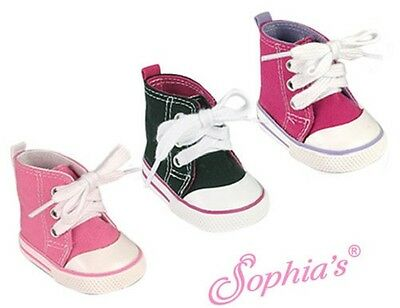 Sophia's Classic High-Top Canvas Sneaker Shoes fits American Girl Dolls 18 inch