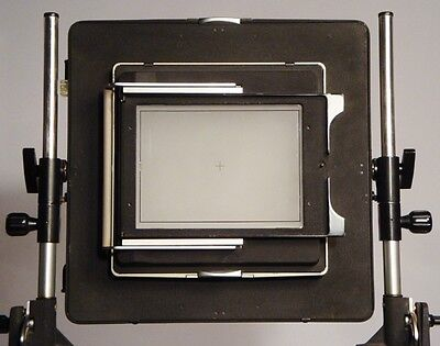 Linhof 8x10 to 5x7 reducing adapter and 5x7 film holder back with ground glass!