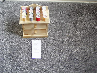 Sewing Box & accessories, Nice small wooden chest. New & unused unwanted gift.