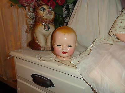 composition doll head baby dimples  parts repair tlc