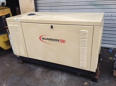 2007 NEW GENERAC GUARDIAN GENERATOR 25 kW 120/240 single Phase ZERO hr.