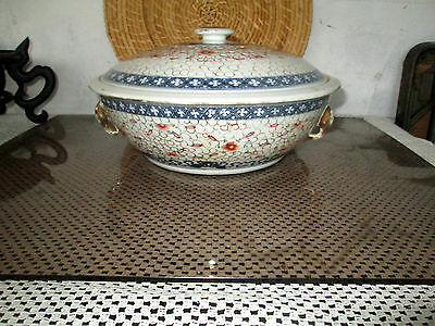 Vintage Casserole With Lid Oriental Design With Elephants And A Surprise