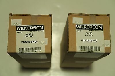 "Wilkerson F28-06-SK00 Filter, 3/4"" NPT (Lot of 2)"