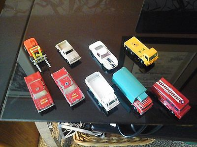 Old Matchbox cars lot of 6 plus one Minature Cars Collector Case
