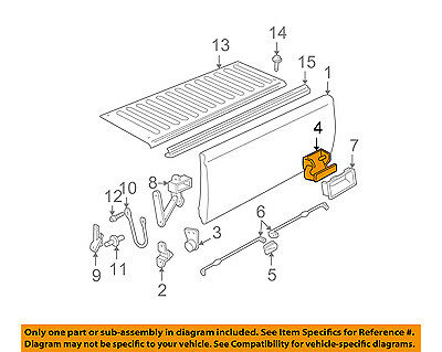GM OEM Tail Gate Tailgate Hatch-Handle 20955300