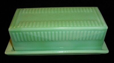 Vintage Style Jadeite Jadite Green Butter Dish With Lid