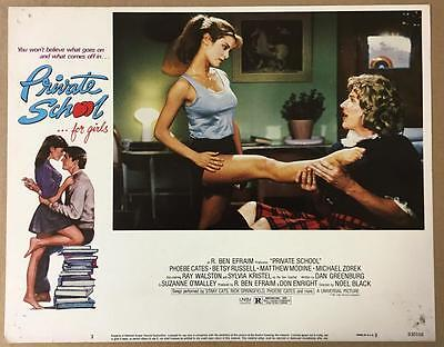 beautiful Betsy Russell Michael Zorek Private School 1983 # 3 lobby card 1083