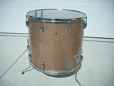 1960's Ludwig 20 inch tom drum champagne sparkle Exc!