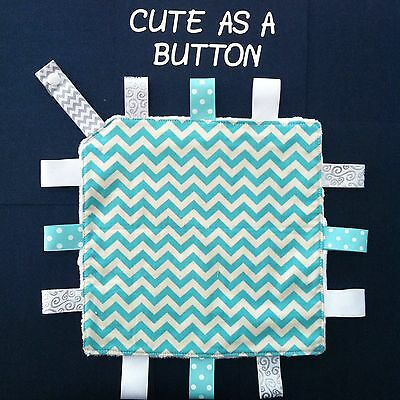Taggie/Taggy/Security/ Tag Blanket/ Dummy Clip- Handmade- Great Gift