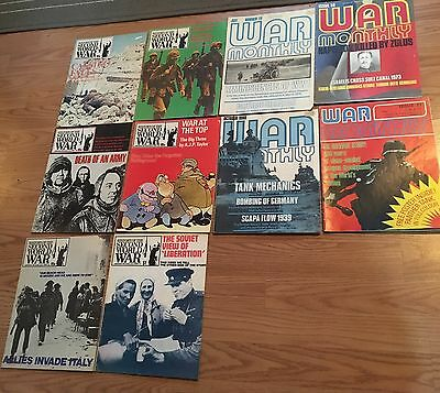 Lot Of 10 Vintage War Magazines Back Issues 1970's Good