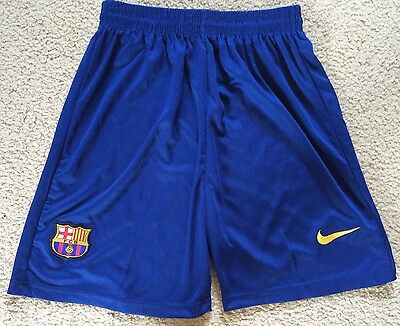 Large Boys - Approx Age 12 - Barcelona Soccer Football Shorts VGC