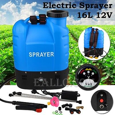 Electric Weed Sprayer Backpack 16L, Farm, Garden, Animal Sprayer +4 Free Nozzles