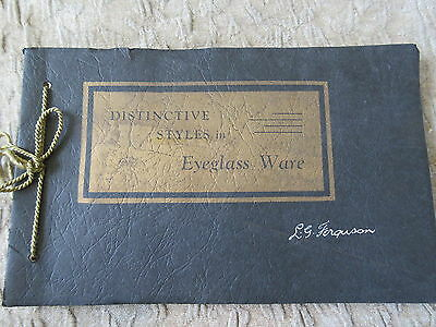 Old 1937 Imperial Optical Distinctive Styles in Eyeglass Ware Catalog