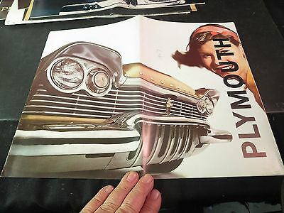 "Original 1957 Plymouth Sale Brochure Large 14-1/2"" x 11"""