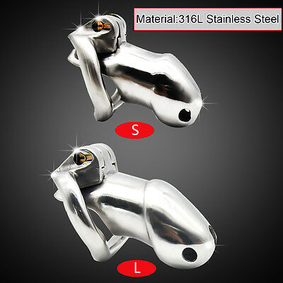 Male 316L stainless steel Luxury Honorable Chastity Device Standard/Small cage