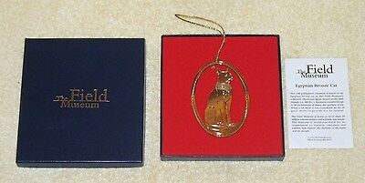 The Field Museum Gold Tone Ornament Based On The Egyptian Bronze Cat