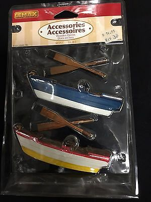 Lemax village collection- Boats and Paddle