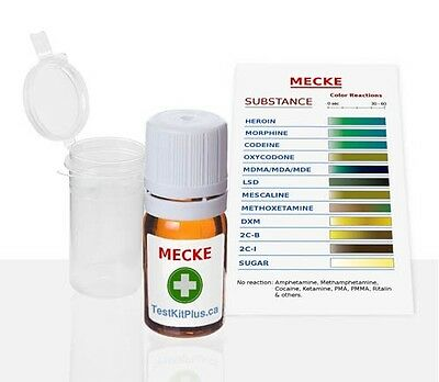 Mecke Reagent Opiates Ecstasy Complete all in one Home Drug Test kit