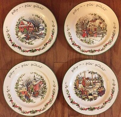 Susan Winget Winter Wonderland Set Of 4 Dinner Plates Certified International