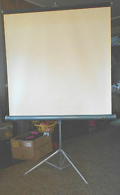 Da-Lite Silver Flyer  40 x 40 Projection Projector Screen Vintage in box