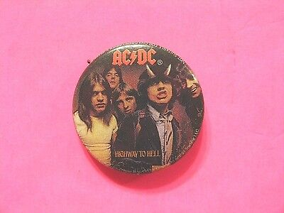 "Ac/dc New Official 2005 Button Badge Pin Uk Import ""highway To Hell"""