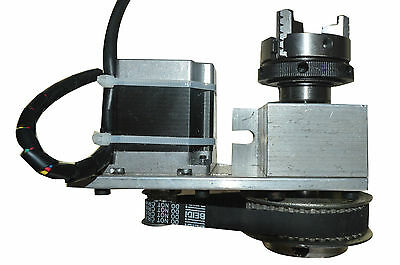 CNC 4th Aixs ,A aixs, Rotary Axis CNC Style A-Axis   3-Jaw Scroll Chuck