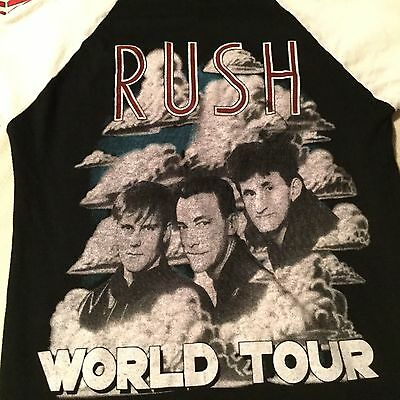 RUSH 1984 GRACE UNDER PRESSURE World Tour Rock Concert T Shirt B/W Cotton