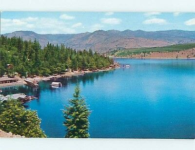 Unused Pre-1980 GREETINGS FROM - DOCKS AT SHORELINE Cooperstown NY Q8394