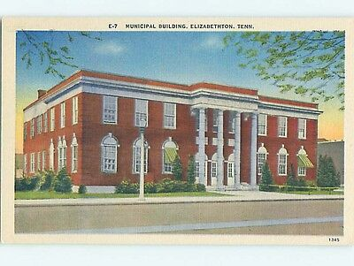 Unused Linen MUNICIPAL BUILDING Elizabethton Tennessee TN Q8962-12
