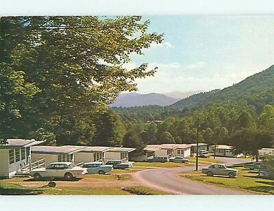 Pre-1980 OLD CARS & FONTANA VILLAGE RESORT MOTEL Fontana Dam NC r0422