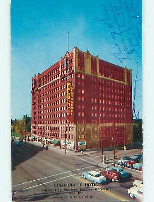 1950's Old Cars & Commodore Hotel Cleveland Ohio OH Q6173