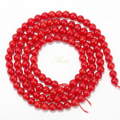 Natural Red Coral Gemstone Round Spacer Beads 16'' 4mm 6mm 8mm 10mm 12mm NEW