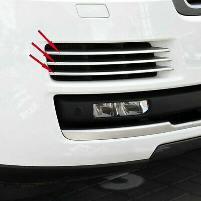 Fit Land Rover Range Rover 2016 2017 Chrome Front Corner Mesh Grill Molding Trim