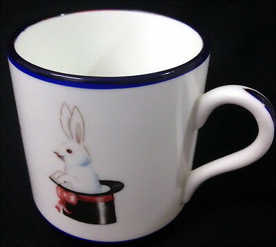 ♡ Free Post Royal Crown Duchy Childs China Mug White Rabbit Horn Balloons