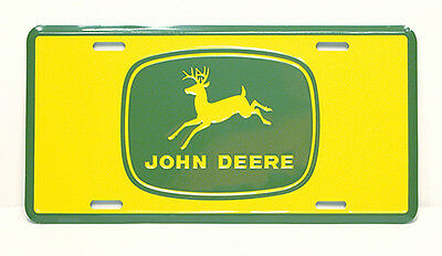 John Deere Yellow /Green Design Metal LICENSE PLATE