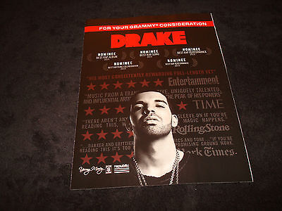 DRAKE 2016 Grammy ad for Best Rap Album & THE WEEKND for Album of the Year