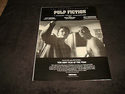 PULP FICTION 1994 Oscar ad Quentin Tarantino with Bruce Willis as Butch Coolidge