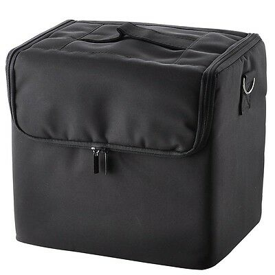 Large Space Makeup Train Case Cosmetic Nail Saloon Jewellery Box Shoulder Strap