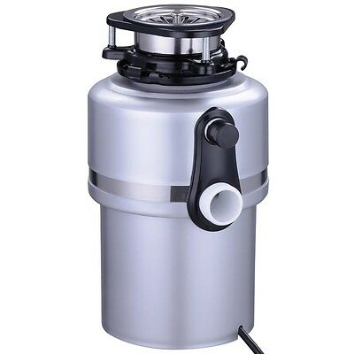 Garbage Disposal 1.0 Horsepower Continuous Feed Home Kitchen Food Waste Silver