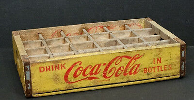 Lexington Chattanooga Tennessee Vintage COCA-COLA Yellow Wood COKE BOTTLE CRATE