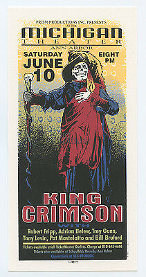 King Crimson Adrian Belew 1995 Jun 10 Michigan Theater Handbill Mark Arminski