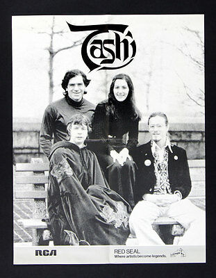Tashi 1977 two New Classical Albums Promo Vintage Poster 17 x 22