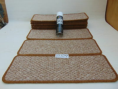 Carpet / Stair pads 60cm Wide 14 off  and  with a FREE  can of SPRAY GLUE 2054-1