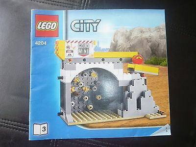 Lego City Gold Mine Set 4204 Book 3 Instruction Book Only