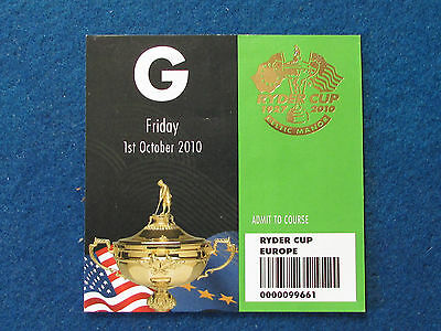 Ryder Cup 2010 - Celtic Manor - Marshal's Guest Ticket - 1/10/10