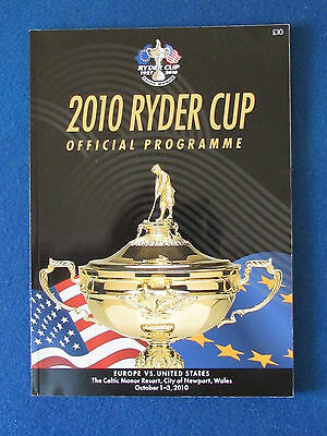 Ryder Cup 2010 - Celtic Manor - Programme - 162 pages