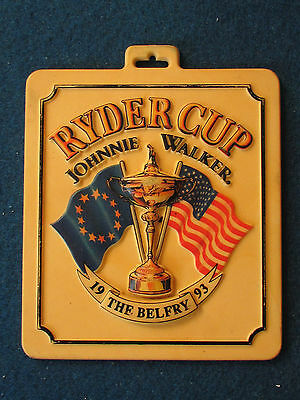 Ryder Cup 1993 - The Belfry - Souvenir Plastic Golf Bag Tag?