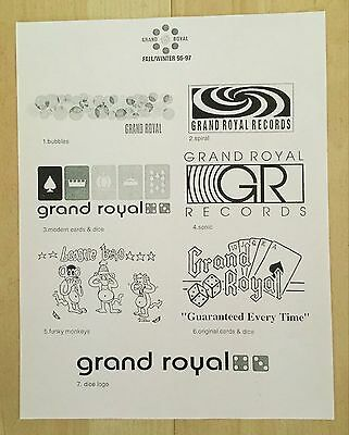 Beastie Boys Grand Royal clothing flier 90's X-large